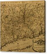 Map Of Connecticut 1797 Canvas Print