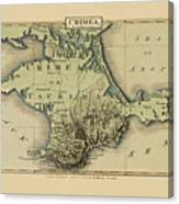 Map Of Crimea 1815 Canvas Print