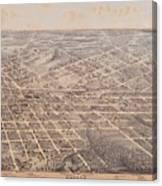 Map Of Dallas 1872 Canvas Print
