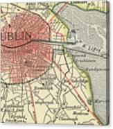 Map Of Dublin Canvas Print