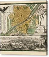 Map Of Florence 1731 Canvas Print