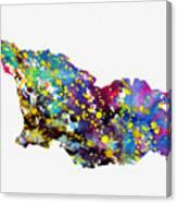 Map Of Georgia-colorful Canvas Print