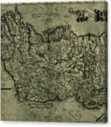 Map Of Ireland 1771 Canvas Print