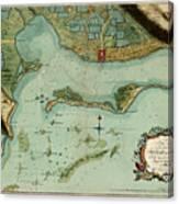 Map Of Jamaica 1756 Canvas Print