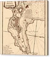 Map Of Monaco 1764 Canvas Print