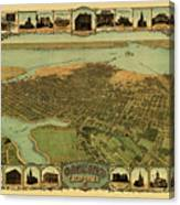 Map Of Oakland 1900 Canvas Print