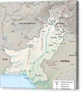 Map Of Pakistan2  Canvas Print
