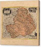 Map Of Rheims 1636 Canvas Print