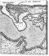 Map Of San Juan, 1766 Canvas Print