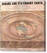 Map Of The Flat Earth Canvas Print