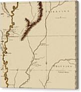 Map Of The Mississippi Riverr 1775 Canvas Print