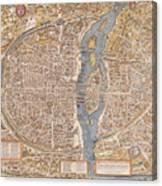 Map Paris Canvas Print