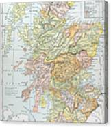 Map: Scotland Canvas Print
