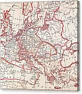 Map: Thirty Years War Canvas Print