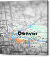Map View For Travel To Locations And Destinations Canvas Print