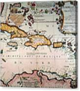 Map: West Indies Canvas Print