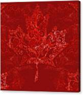 Maple Leaf Filigree Pattern Canvas Print