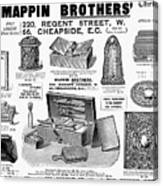 Mappin Brothers Ad, 1895 Canvas Print