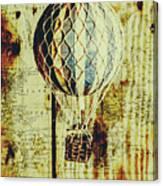 Mapping A Hot Air Balloon Canvas Print