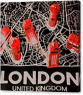 Maps From London Town Canvas Print