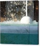 Marble Fountain Shower Canvas Print