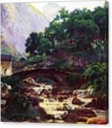 Marble Saw In Carrara Canvas Print