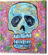 Marble Skull  Canvas Print