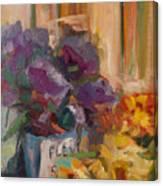 Marche' Aux Fleurs Canvas Print