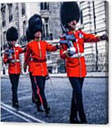Marching Grenadier Guards Canvas Print