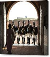 Marching Off On Detail At Fort Mchenry Canvas Print