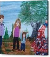 Mardi Gras Beggar And The Children Canvas Print