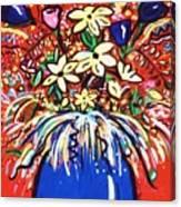 Mardi Gras Floral Explosion Canvas Print
