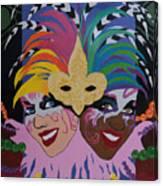 Mardi Gras In Colour Canvas Print