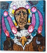 Mardi Gras Indian Apron Detail Canvas Print
