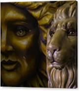 Mardi Gras Lion Canvas Print
