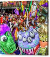 Mardi Gras Mob Canvas Print