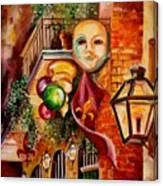 Mardi Gras Night Canvas Print
