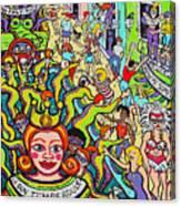 Mardi Gras - Throw Me Something Mister Canvas Print