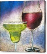 Margarita And A Glass Of Wine Canvas Print