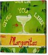 Margaritas Canvas Print