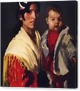Maria Y Consuelo Gitana 1906 Canvas Print