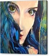 Mariah Blue Canvas Print