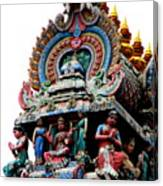 Mariamman Temple Detail 3 Canvas Print