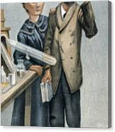 Marie And Pierre Curie Canvas Print