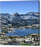 Marie Lake Panorama From High Above - John Muir Trail Canvas Print