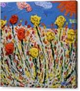 Marigold Flower Garden Canvas Print