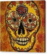 Marigold Skull Canvas Print
