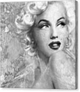 Marilyn Danella Ice Bw Canvas Print
