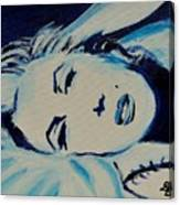 Marilyn In Blue Canvas Print