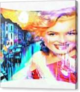 Marilyn In Italy Canvas Print